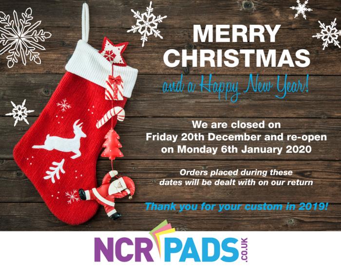 Christmas Closure Dates 2019