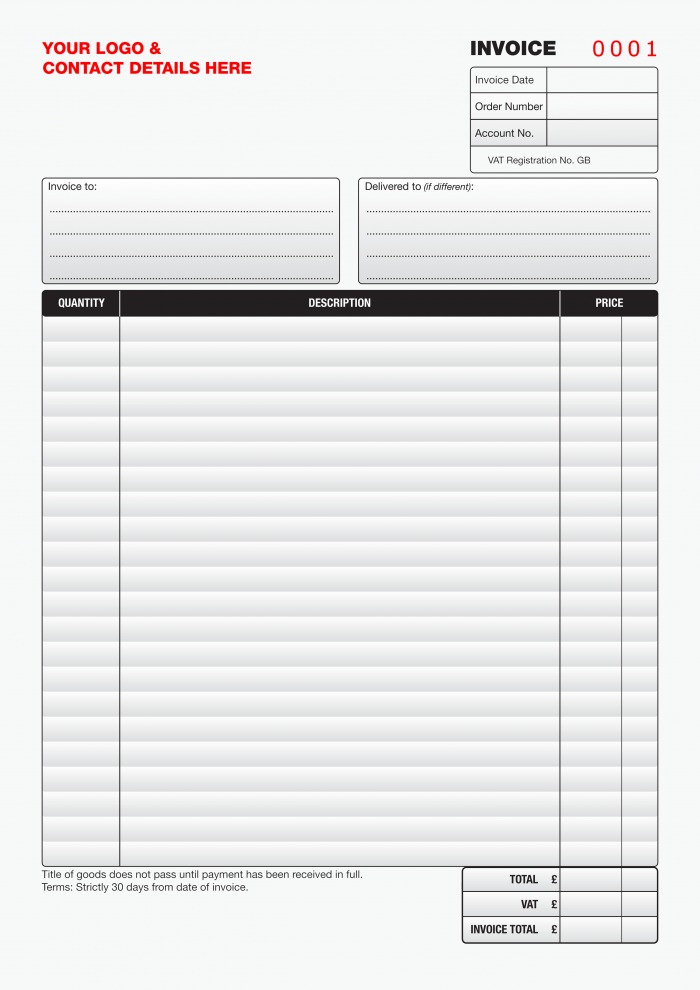 Customised Invoices